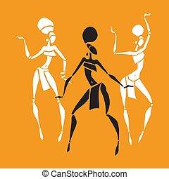 美しい, アフリカ, 女性