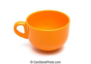 美しい, オレンジ, カップ