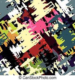 美しい, カラフルである, 抽象的, イラスト, ベクトル, 落書き, 多角形