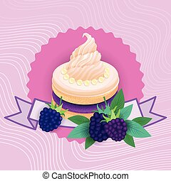 美しい, カラフルである, 食物, デザート, おいしい, 甘い, ケーキ