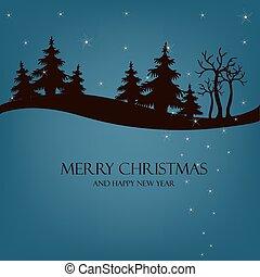美しい, クリスマス, 夜