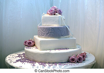 美しい, ケーキ, 結婚式