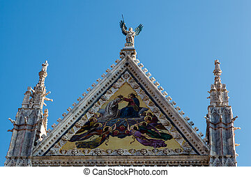 美しい, サンタ マリアのカテドラル, 中に, siena, トスカーナ, イタリア