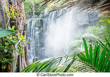 美しい, ジャングル, 滝, 光景