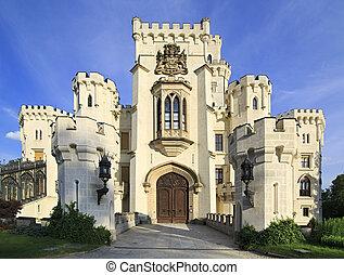 美しい, チェコ, 城, republic., hluboka