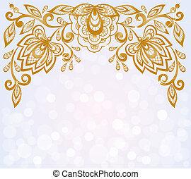 美しい, ハイライト, bokeh, 刻まれた, 背景 パターン, 花, 飾られる