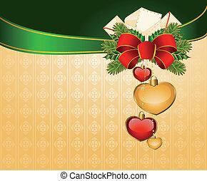 美しい, バックグラウンド。, クリスマス