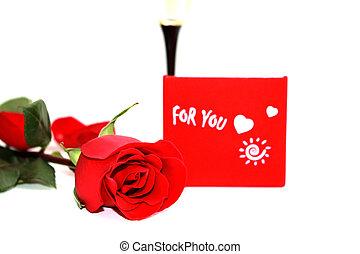 美しい, バラ, あなた, 赤, 贈り物