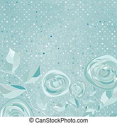美しい, バラ, pattern., eps, レトロ, 8