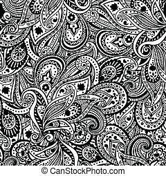 美しい, パターン, ペイズリー織
