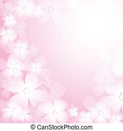 美しい, ピンクの花, バックグラウンド。