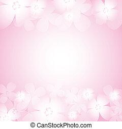 美しい, ピンクの花, 背景