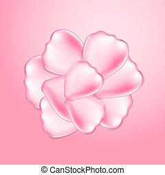 美しい, ピンクは 上がった, 花弁