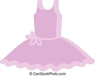 美しい, ピンク, ベクトル, 服, イラスト