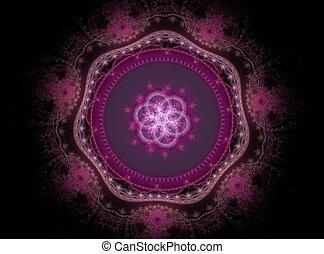 美しい, ピンク, 抽象的, 花, フラクタル