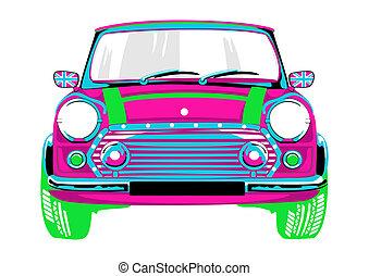 美しい, ピンク, 自動車