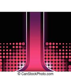 美しい, ピンク, halftone, ストライプ, 背景, 3d