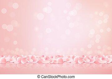 美しい, ピンク, illustration., petals., ベクトル, sakura, 背景, 咲く