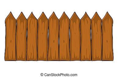 美しい, フェンス, シンボル, 隔離された, イラスト, ベクトル, 背景, 白, design., 漫画, アイコン
