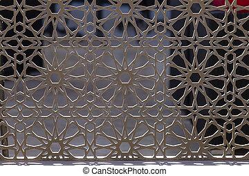 。, 美しい, フェンス, フェンス, 金属の鋳造物, 装飾用である, 芸術的, 鉄, 偽造すること, 終わり, 細工された