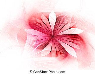 美しい, フラクタル, 芸術的, 花