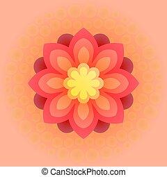 美しい, ベクトル, カラフルである, flower., illustration.