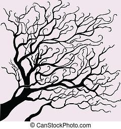 美しい, ベクトル, 木