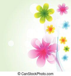 美しい, ベクトル, 花