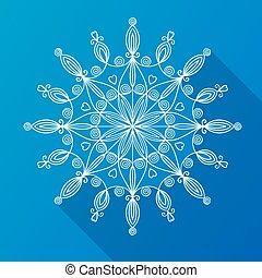 美しい, ベクトル, 雪片