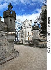 美しい, ランドマーク, 城, hluboka, -