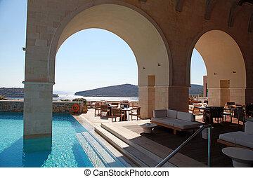 美しい, リゾート, seaview(greece), 贅沢