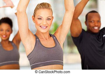 美しい, 健康な女性, 運動