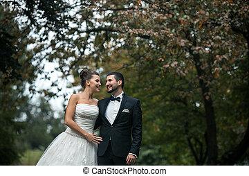 美しい, 偶力がポーズを取る, 結婚式