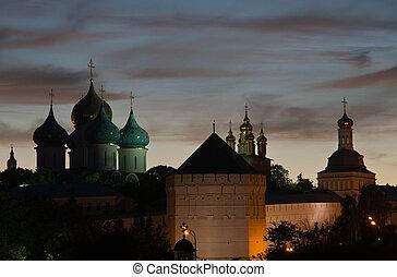 美しい, 光景, の, ∥, 古い, 修道院