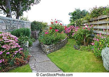 美しい, 古い, 庭