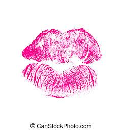 美しい, 唇, 赤