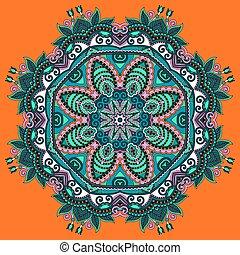 美しい, 型, 円, アラベスク, パターン