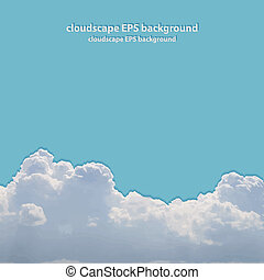 美しい, 夏, cloudscape.