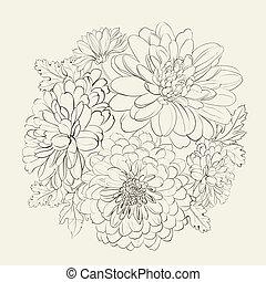 美しい, 夏, flowers., 花輪