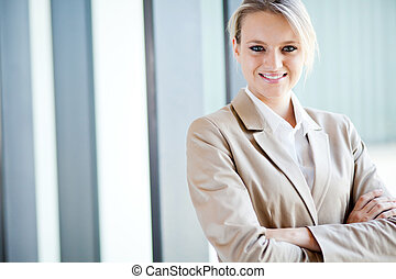 美しい, 女性実業家, 若い, ブロンド