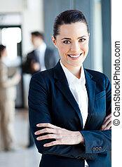 美しい, 女性実業家, 若い, 肖像画