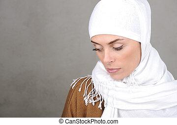 美しい, 女, 成人,  muslim