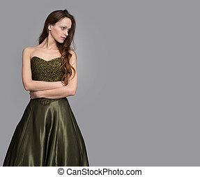 美しい, 女, 服