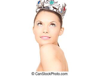 美しい, 女, 王冠