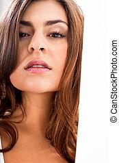 美しい, 完全, 女性 化粧, 若い, 皮膚, 柔らかい