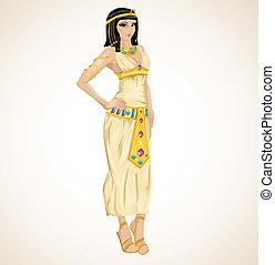 美しい, 定型, 女の子, cleopatra
