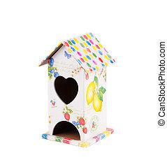美しい, 家, heart., 鳥