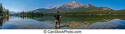 美しい, 山, コロンビア, 自然, 湖, イギリス, カナダ, 風景