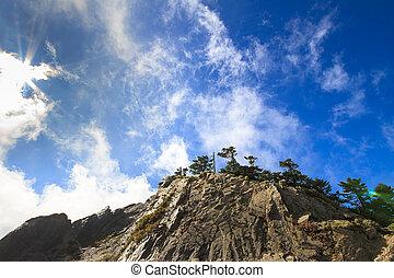 美しい, 山, 雲
