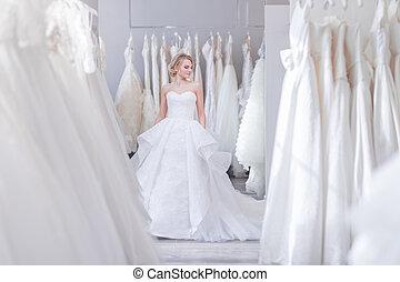 美しい, 店, 女, 結婚式